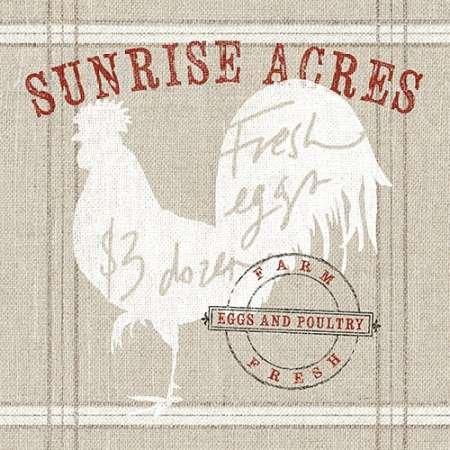 La Fromagerie A La Ferme - Farm linen rooster par Schlabach, Sue -Imprimé