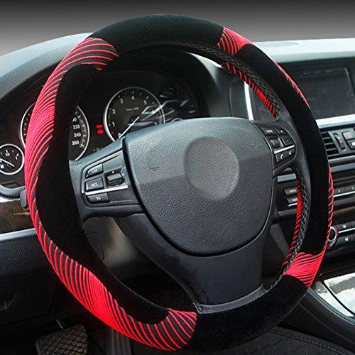 Zhuhaitf praktisch Winter Warm Anti Slip Soft Protector Plush Van Auto Car Steering Wheel Cover Winter Driving Accessory 36/38CM