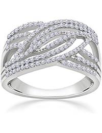 Malabar Gold And Diamonds 18KT White Gold And Diamond Ring For Women - B07B55WN3B