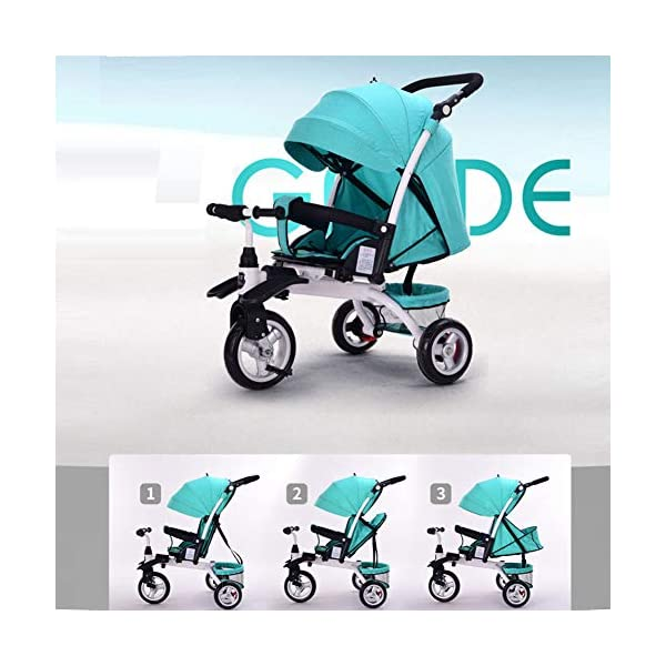 GSDZSY - Baby Tricycle Carriage Stroller 3 Wheel Bike,3 In 1 With Removable Push Handle Bar,Rubber Wheel (non-inflated), Deformable And Adjustable,0-6 Years,A GSDZSY  9