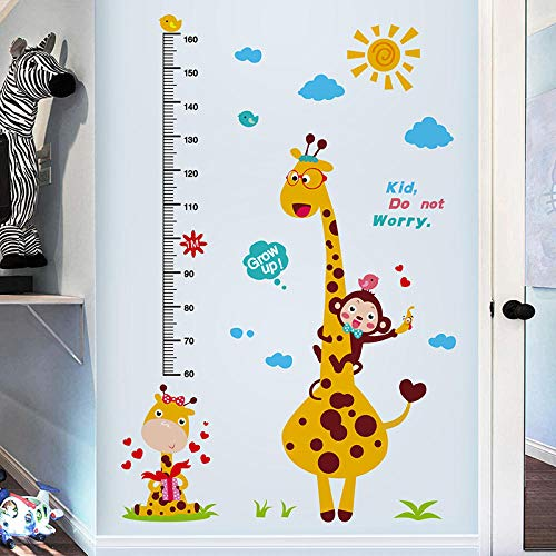 Giraffe Höhenmessung Wandaufkleber Vision Testing Tier Wandtattoos Für Kinderzimmer Baby Schlafzimmer Dekoration @ Eye Chart Aufkleber -