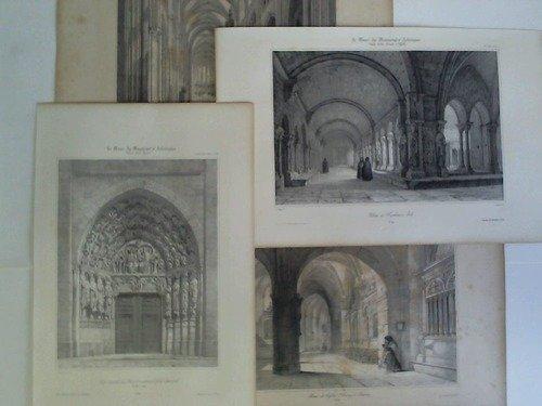 France Achit Romane et Ogivale - 4 Lithographien aus dem 12. und 13. Jahrgang