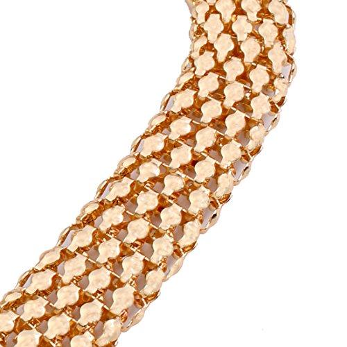 YAZILIND Frauen-18K Gold überzogene Rhinestone-Kragen-Halskette mit Ohrringe Set und Ring