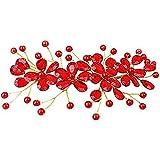 Fiore Rosso Fermacapelli capelli Pin gioielli capelli pettine matrimonio copricapo per capelli per donne da sposa copricapo