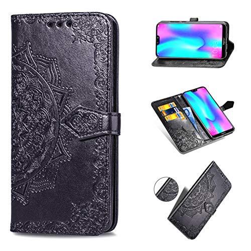Ronsem Asus Zenfone 2 5.5 ZE551ML / ZE550ML Hülle PU Leder Wallet Schutzhülle mit Kartenschlitz Flip Handyhülle für Asus Zenfone 2 5.5 ZE551ML / ZE550ML - Schwarz