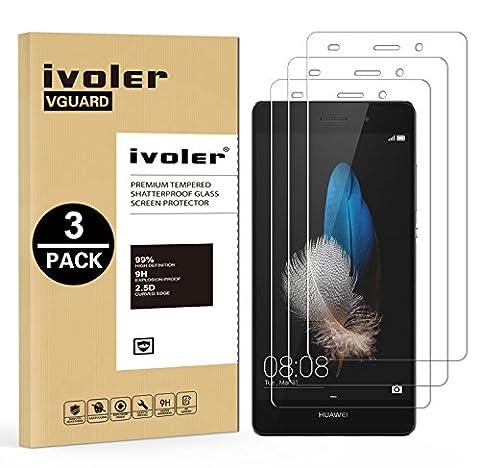 [Lot de 3] Huawei P8 Lite Protection écran, iVoler Film Protection d