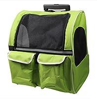 OOFWY Sac de voyage pour animaux / Roulette double / Tiroirs Boîte / Sac à dos portatif pour chat et chien / Nid d'animal familier / Matériel en tissu Oxford , 2-Large