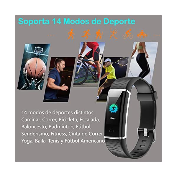 Willful Pulsera Actividad Impermeable IP68,Color Screen con 14 Modos de Deporte,Pulsera Inteligente con Pulsómetro… 6