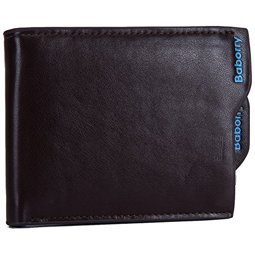 Baborry-Herren Bifold Brieftasche Geldbörse Mit KRotitkarte Slots Münztasche Mit Reißverschluss Kaffee kaffee