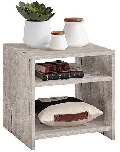 Table d'appoint en bois coloris chêne sable - Dim : L 40 x P 40 x H 40 cm - PEGANE -
