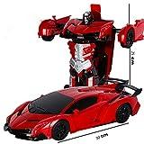 BZ Un Bouton déformation télécommande Voiture télécommande déformation Robot King Kong Geste Induction déformation Jouet Voiture,Lanterne Rouge,25 * 30