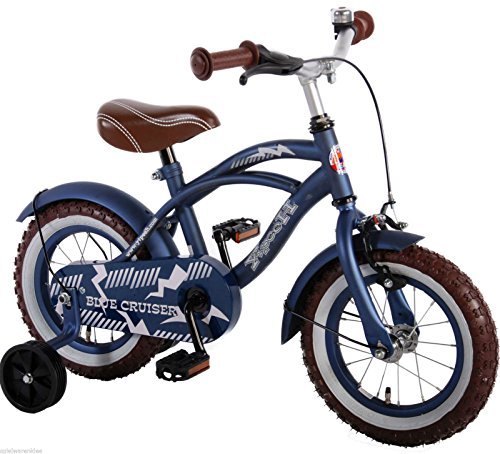 14 Zoll Fahrrad Qualitäts Kinderfahrrad mit Stützräder bike Blue Cruiser matt Blau 51401