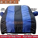 #4: Autofact Maruti Wagon r/Wagonr Car Accessories - Car Body Cover with Mirror Pockets (Triple Stitched/Bottom Fully Elastic/Royal Blue Color)