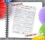 Geburtstag Gästebuch 30 Gästebuchkarten mit Fragen an Familie & Freunde Geburtstagsgeschenk, 21cm x 14,8cm