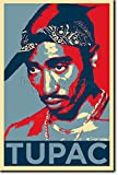 Tupac Shakur - Art Print (Parodie Obama Hope) Poster Photo Glacé Cadeau 30x20 cm affiche 30 x 20 cm