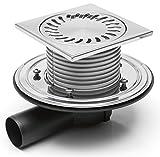 Duschablauf - Badablauf - Bodenablauf-150x150 mm - Edelstahl - DN50 - incl. Dichtungsmatte - (381 F + 391/1)
