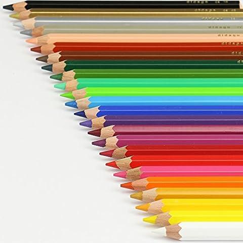 Buntstifte Set 24 Farben ca. 17cm bruchfest ✓Wasserfeste, dicke,stabile Holzbuntstifte mit Holzköcher ✓Mine: ca. Ø 5,7mm ✓Mit Malstiften Gold & Silber ✓Farben: Weiß, Gelb, Orange, Rosa, Rot, Weinrot, Violett, Ultramarin, Hellblau, Hellgrün, Dunkelgrün, Mittelgrün, Braun, Haut, Grau, Schwarz ✓Kinderstifte ab 3 Jahren ✓Mandala Stifte für Erwachsene zum Ausmalen auf Papier ✓Farbstifte, satte Farben für Schulen & Kindergarten tolle Qualität | trendmarkt24 125370