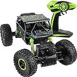 VVinRC Ferngesteuertes Auto,Geländewagen High Speed Fernabstand ca 100m Maßstab 1/18 4WD Schnelle Rock Crawler, 2,4 GHz Fernsteuerung RC Auto (Grün)