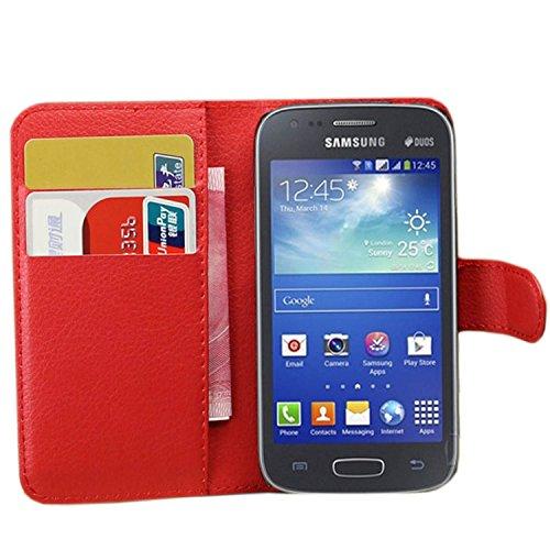 e007cb62fa0 Ycloud Funda Libro para Samsung Galaxy Ace 3 (4 Pulgada), Suave PU Leather
