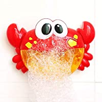 Ironhorse Baby Cute Novelty Crab Bath Blowing Bubble Toy for Children Kids Automatic Bubble Blower Machine Toys with Light and Music