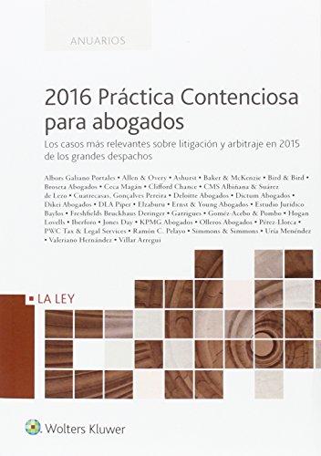 2016 Práctica contenciosa para abogados (Anuarios)
