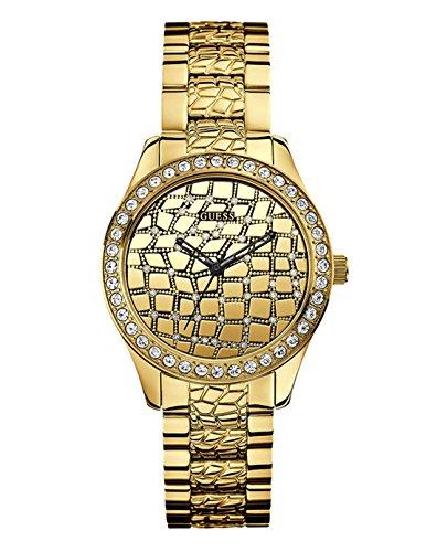Guess Guess – Reloj Analógico de Cuarzo para Mujer, correa de Acero inoxidable color Dorado