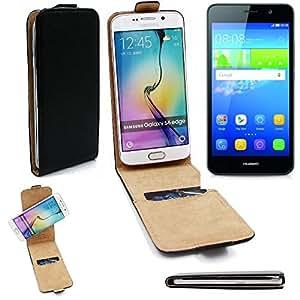 TOP SET pour Huawei Y6 Dual SIM Case Smartphone Cover Flip Style Housse de Protection 360° Sacoche pour Huawei Y6 Dual SIM noir - K-S-Trade(TM)