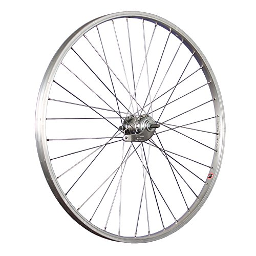 Taylor-Wheels 26 pollici ruota posteriore bici contropedale 559-21 argento