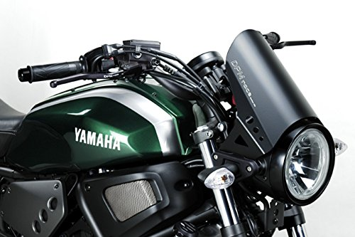 XSR700 2015 - Windschutzscheibe 'RunBack' (R-0780) - Aluminium Windschild Windabweiser Scheibe - Hardware Bolzen Enthalten - Motorradzubehör De Pretto Moto (DPM) - 100% Made in Italy