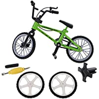 MagiDeal Mini Bicicleta de Montaña con Neumáticos de Repuesto Dedo Sistema de Juguete de Bici de Aleación Regalo Colección Niños - Verde