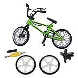 MagiDeal Mini Finger Fahrrad Bicycle Modell aus Legierung & Kunststoff mit Ersatzteil Kreatives Spielzeug Geschenk für Kinder und Junge - Grün