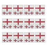 LUOEM Flagge Fahne England Länder Temporäre Tattoos Aufkleber Fanartikel Fussball WM 2018 12 Stücke