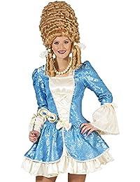 Barock Kostüm Johanna für Damen - Kurz - Rokoko Theater Prinzessin Verkleidung Blau Creme