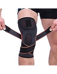 Ningbao Men & Women Sports Knee Wraps Correas de Rodilla Compresión y Soporte elástico para Entrenamiento Cruzado Gimnasio Entrenamiento Levantamiento de Pesas HX081