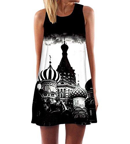 365-Shopping Damen Sommer Cocktailkleid High Waist Festkleider Elegant Beach Kleid Mini Partykleid...