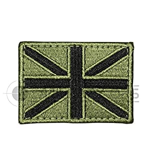 Alpha Tactical Union Jack Velcro embroidered Patch Olive Green