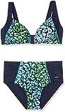 Palm Beach Damen Bikini-Set Tropicana, Mehrfarbig (Marine/Türkis/Grün 2017), 40 (Manufacturer Size:40C)