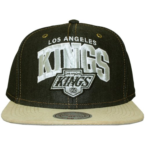 Mitchell & Ness - Casquette Strapback Homme Los Angeles Kings Denim Arch Adjuster
