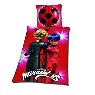 Tex idea Bettwäsche glatt Miraculous Ladybug Cat Noir Tikki Plugg 135 x 200 Geschenk Wow - All-In-One-Outlet-24 -