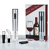 immagine prodotto Cavatappi Elettrico Apribottiglie,W-Unique Automatico Apribottiglia da Vino con Tagliacapsule,Pourers Vino e vino Tappo(Contenitore di Regalo)