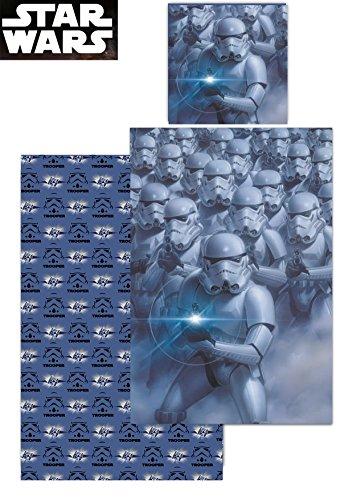 Star Wars - Wende-Bettwäsche - Episode 4-6 - Stormtrooper - 135 x 200 cm Bettbezug + 80 x 80 cm - 4k Story Toy