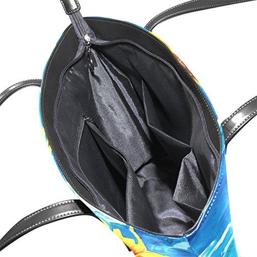 Coosun, Damen Tote-tasche Multicolore # 004 M Multicolore # 001