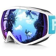Findway Gafas de Esquí,Máscara Gafas Esqui Snowboard Nieve Espejo para Hombre Mujer Adultos Juventud