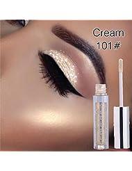 Fards à paupières,Magnificent Metals Glitter et Glow Ombre à paupières liquide Eyeshadow-Lonshell (Beige A)