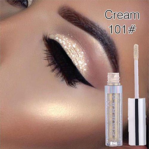 Eyeshadow Makeup Langlebige Shiny Glitter Wasserdicht Schimmer und Glanz Lidschatten-Aufkleber Metallic-Pigmente -