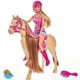 #0618 Modepuppe Steffi Love als Reiterin mit Pferd und Zubehör • Anziehpuppe Ankleidepuppe Puppe Reiten Lovely Horse