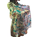 Chicabela Stilltuch aus 100% atmungsaktiver Baumwolle, mit Tasche, Stilltuch, Top, Schal, Stillschürze, Schal, Baby-Poncho, Blau
