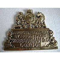 Siebe Gorman eléctrica de latón placa/placa–Londres de latón bendición––Marine/náutico/barco/casco de buceo/barco/marítimo (5119)