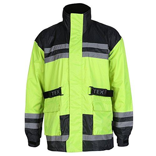 Texpeed Hi-Vis Elasticated Waterproof Over Jacket (Perlen-leder-jacke)