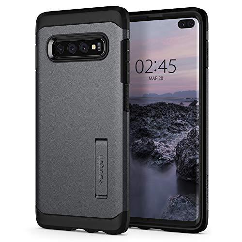 Spigen 606CS25771 Tough Armor Kompatibel mit Samsung Galaxy S10 Plus Hülle, Doppelte Schutzschicht Fallschutz Schutzhülle Case Graphite Gray